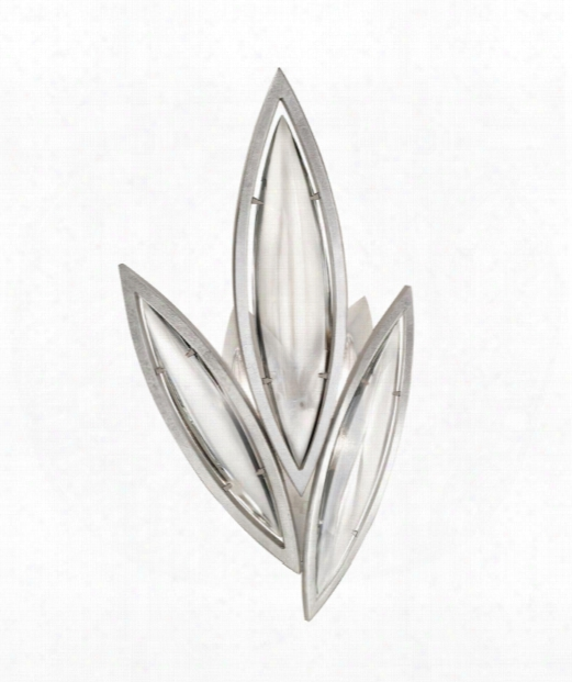 """Marquise 12"""" 4 Light Wall Sconce In Platinized Silver Leaf"""