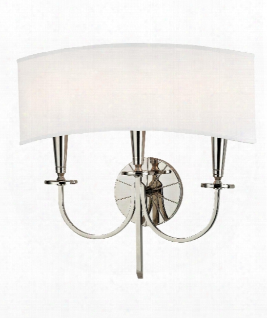 "Mason 17"" 3 Light Wall Sconce In Polished Nickel"