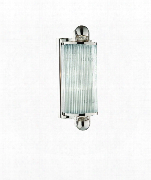 "Mclean 5"" 1 Light Wall Sconce In Polished Nickel"
