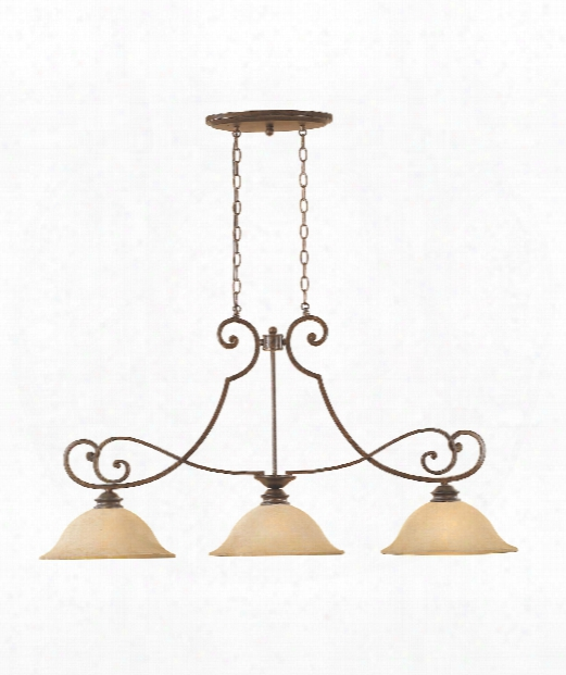 "Mendocino 45"" 3 Light Island Light In Forged Sienna"
