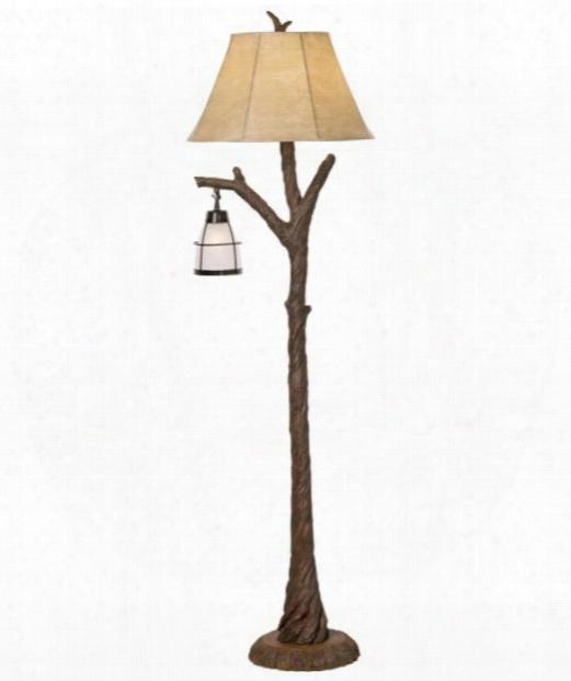 """Mountain Wind 18"""" 1 Light Floor Lamp In Aged Oak"""