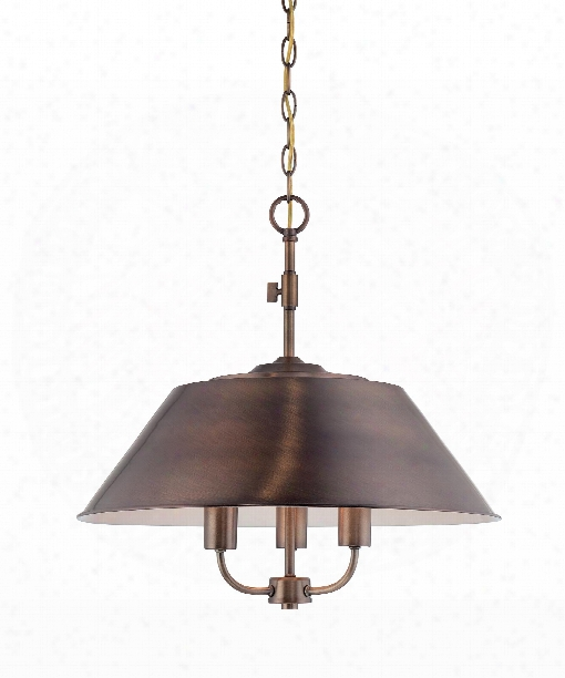 "Newbury Station 20"" 3 Light Large Pendant In Old Satin Brass"