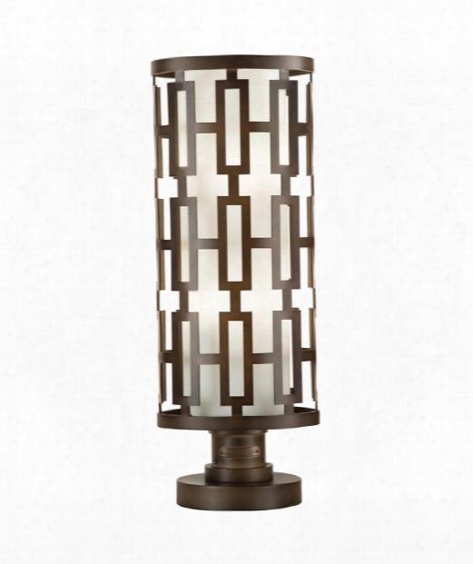 """River Oaks 10"""" 4 Light Outdoor Pier Lamp In Dark Bronze"""
