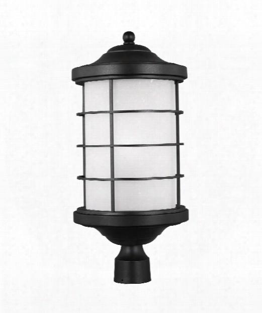 """Sauganash 10"""" 1 Light Outdoor Outdoor Post Lamp In Black"""