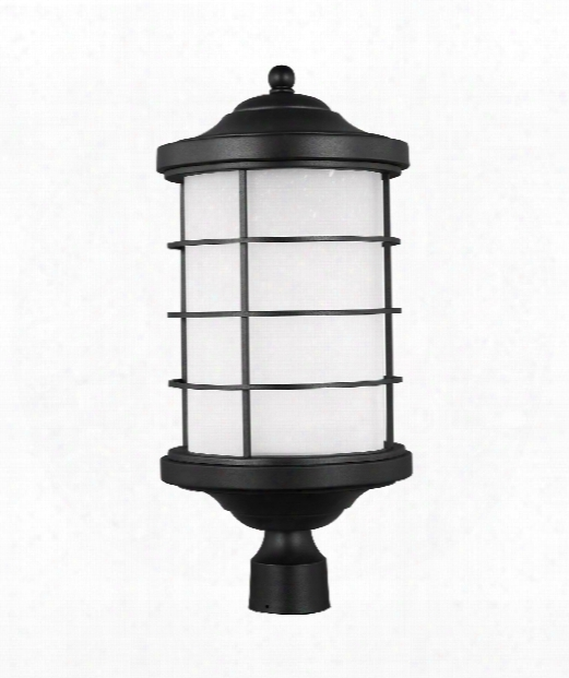 "Sauganash 10"" Led Outdoor Outdoor Post Lamp In Black"