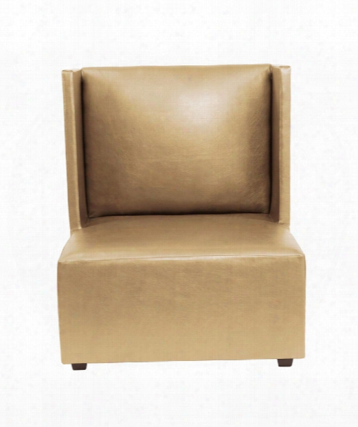 """Shimmer 35"""" Occasional Chair In Gold Faux Leather"""