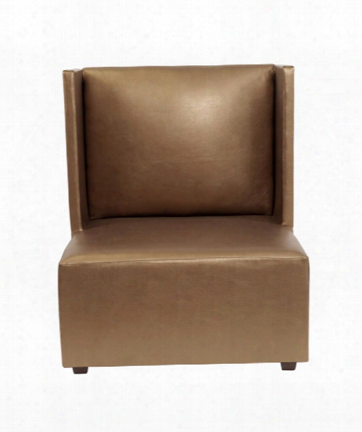 "Shimmer 35"" Occ Asional Chair In Metallic Bronze"