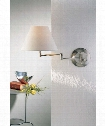 1 Light Wall Swing Lamp in Satin Nickel