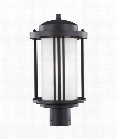 "Crowell 9"" 1 Light Outdoor Outdoor Post Lamp in Black"
