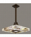 "Crystal Bakehouse 18"" 1 Light Large Pendant in Bronze"