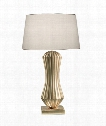Recollections 1 Light Table Lamp in Gold Leaf