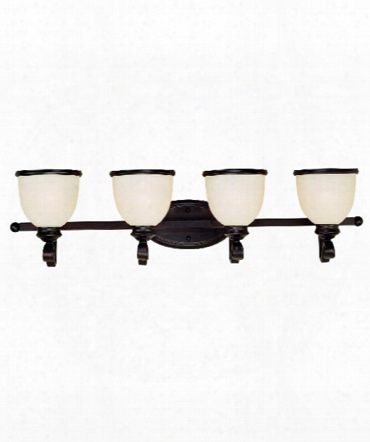 "Willoughby 34"" 4 Light Bath Vanity Light In English Bronze"
