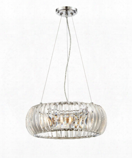 "Allure 18"" 3 Light Mini Pendant In Chrome"