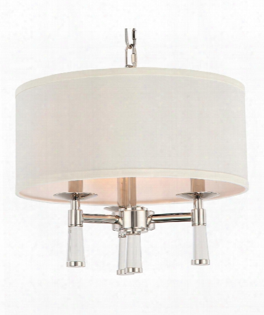 "Baxter 16"" 3 Light Mini Chandelier In Polished Nickel"