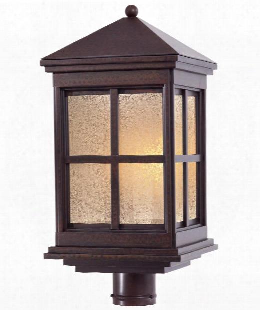 """Berkeley 10"""" 1 Light Outdoor Outdoor Post Lamp In Rust"""