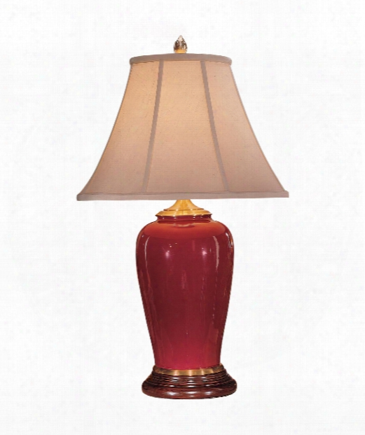 Best Berry 1 Light Table Lamp In Red Berry Porcelain