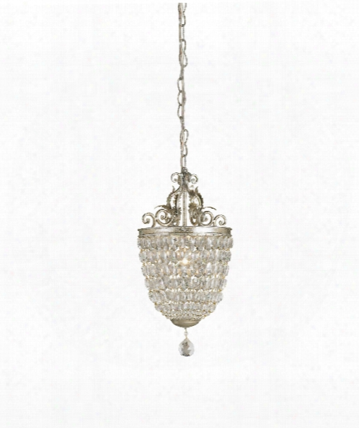 "Bettina 10"" 1 Light Mini Pendant In Silver Leaf"