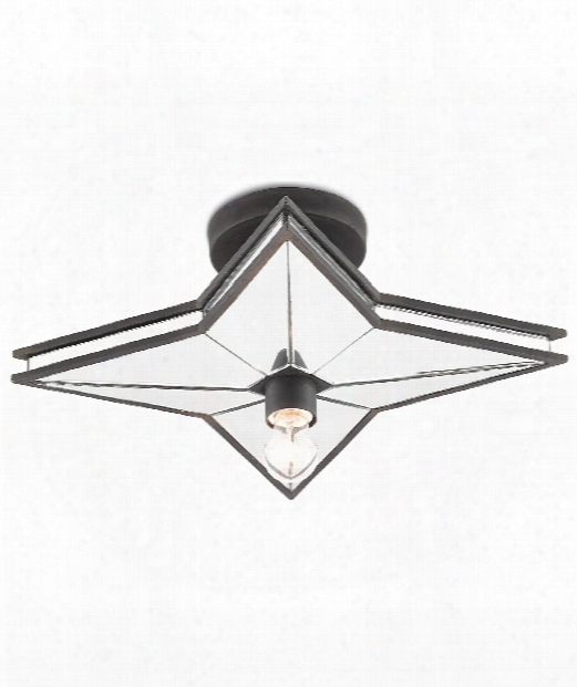 "Cassiopeia 19"" 1 Light Semi Flush Mount In Blacksmith"