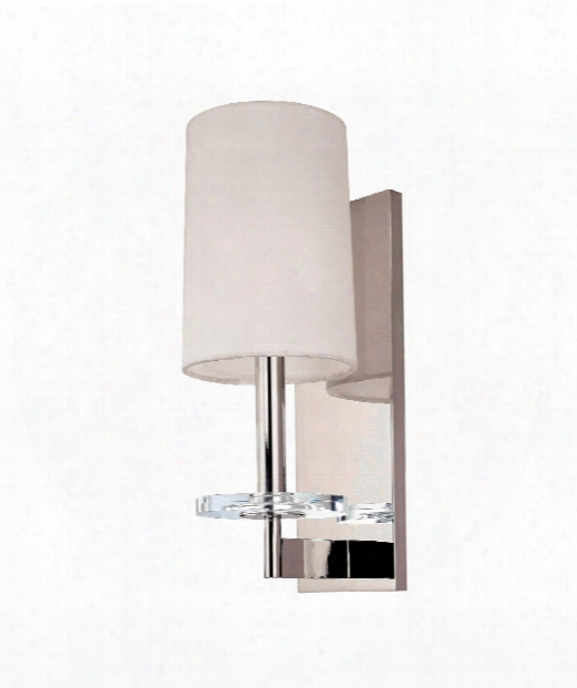 "Chelsea 5"" 1 Light Wall Sconce In Polished Nickel"