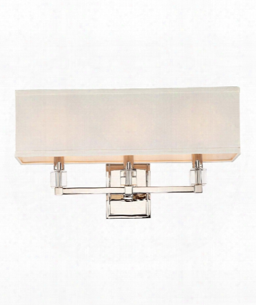 "Dixon 21"" 3 Light Wall Sconce In Polished Nickel"