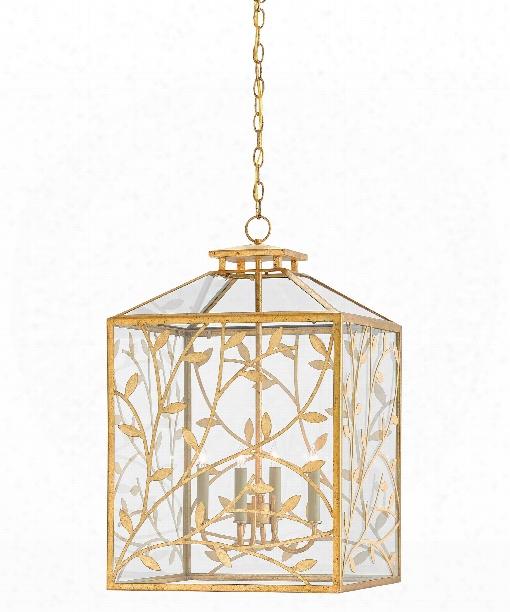 """Frogmore 18"""" 4 Light Large Pendant In Gilt Bronze-dutch Gold Leaf"""