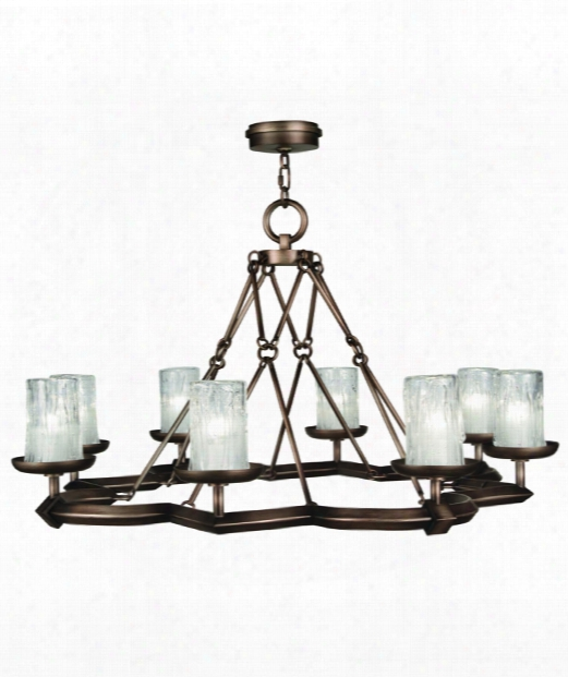 "Liaison 40"" 8 Light Chandelier In Antique Hand-rubbed Bronze"
