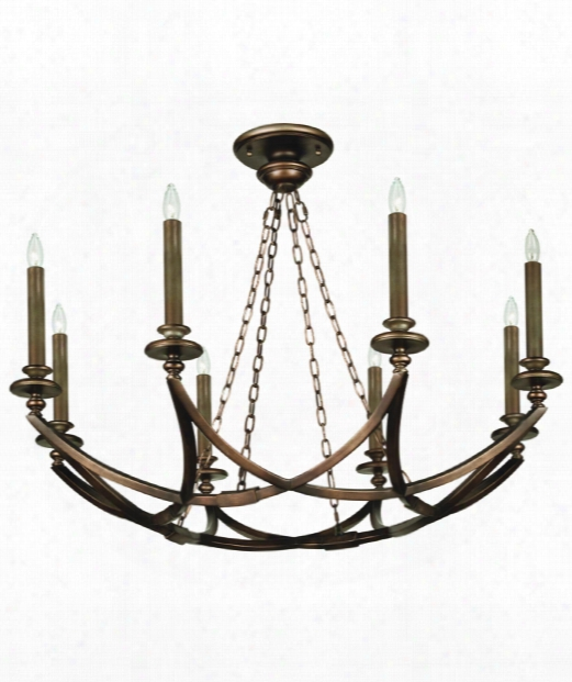 "Liaison 44"" 8 Light Chandelier In Antique Hand-rubbed Bronze"