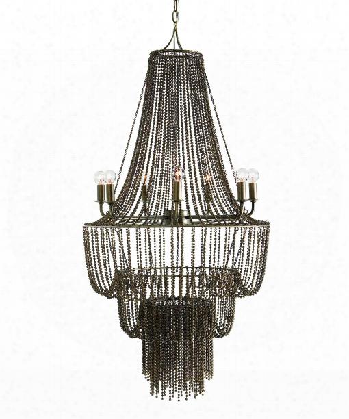 "Maxim 22"" 7 Light Large Pendant In Iron"