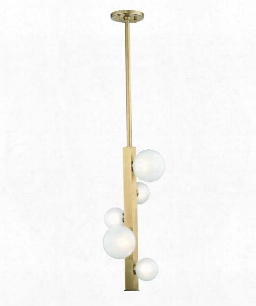 "Mini Hinsdale 11"" Led 5 Light Mini Pendant In Aged Brass"