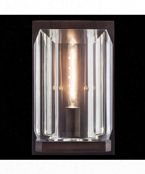 "Monceau 6"" 1 Light Wall Sconce In Patinated Bronze Finish"