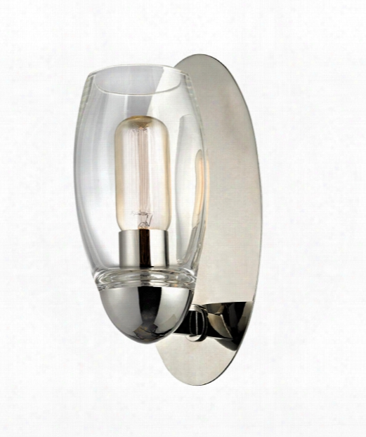 """Pamelia 5"""" 1 Light Wall Sconce In Olished Nickel"""