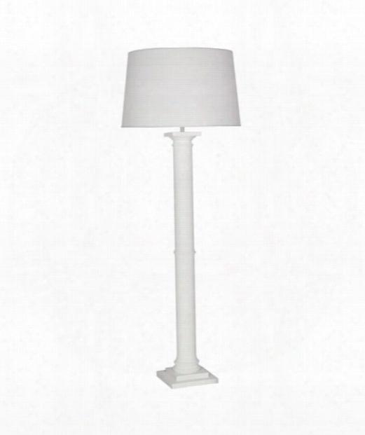 """Phoebe 10"""" 1 Light Floor Lamp In Plaster White"""