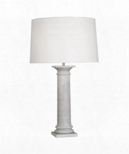 "Phoebe 7"" 1 Light Table Lamp In Painted Faux Concrete"