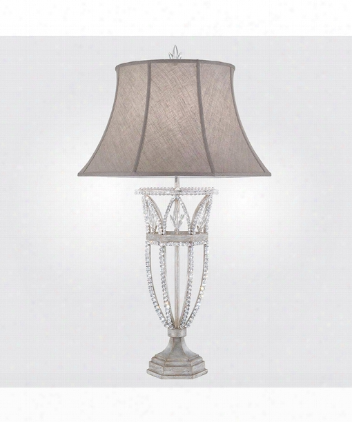 Prussian Neoclassic 1 Light Table Lamp In Prussian Silver Gray