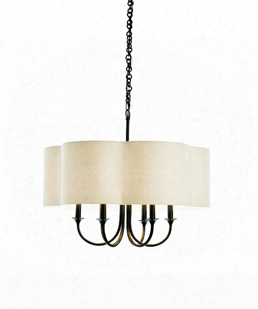 "Rittenhouse 26"" 6 Light Chandelier In Bronze"