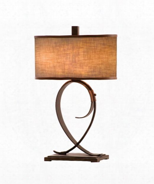 """Rodeeo  Drive 20"""" 2 Light Table Lamp In Antique Copper"""