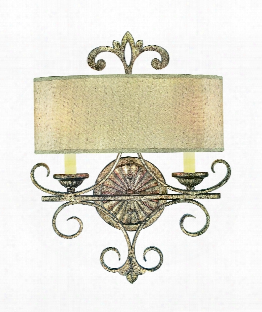 """Savonia 15"""" 2 Light Wall Sconce In Oxidized Silver"""
