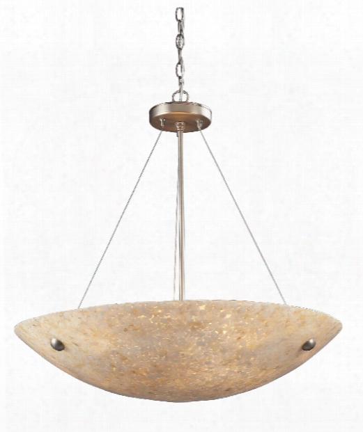 "Stonybrook 24"" 6 Light Large Pendant In Satin Nickel"