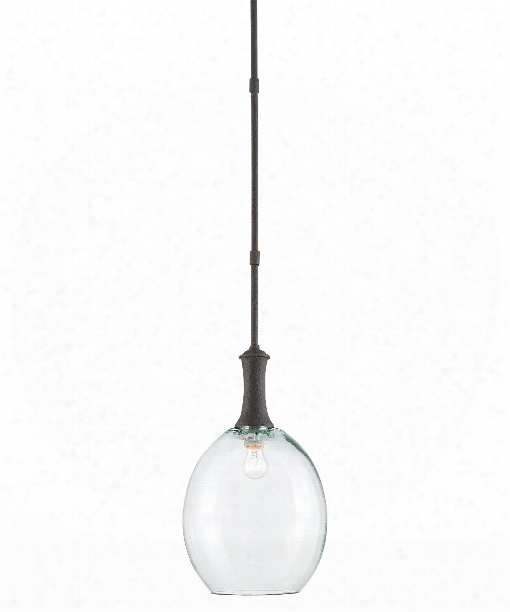 """Theo 10"""" 1 Light Large Pendant In Molã© Black"""