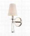 "Baxter 9"" 1 Light Wall Sconce in Polished Nickel"