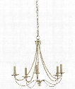 "Cascade 25"" 5 Light Chandelier in Majestic Silver"