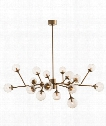 "Dallas 58"" 18 Light Large Pendant in Vintage Brass"
