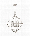 "Liaison 30"" 8 Light Chandelier in Platinized Silver Leaf"