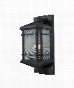 "Lowell 9"" 1 Light Outdoor Wall Light in Matte Black"