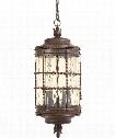 "Mallorca 13"" 5 Light Outdoor Hanging Lantern in Vintage Rust"