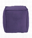 "Square Pouf 20"" Ottoman in Purple"