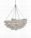 "Stratosphere 46"" 4 Light Large Pendant in Contemporary Silver Leaf"