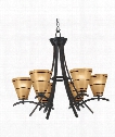 "Wright 28"" 6 Light Chandelier in Oil Rubbed Bronze"