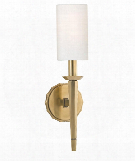 "Tioga 5"" 1 Light Wall Sconce In Aged Brass"