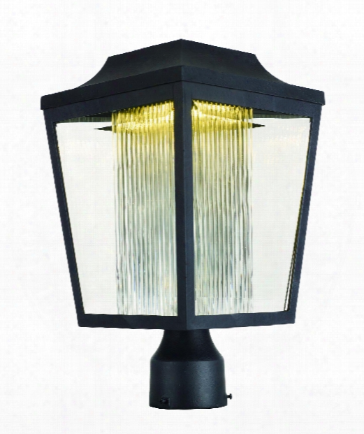 """Villa 9"""" Led 1 Light Outdoor Outdoor Post Lamp In Anthracite"""